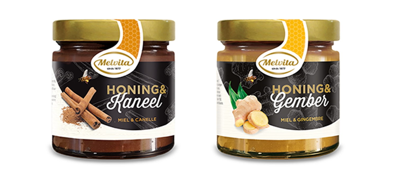nu: design voor Melvita honing-specialiteiten